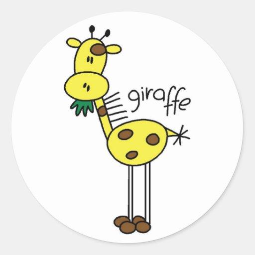 Stickers Girafe Savane