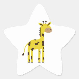 Giraffe Star Sticker