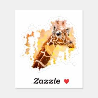 Giraffe Sticker,Giraffe Gift,Giraffe Lover Gift,