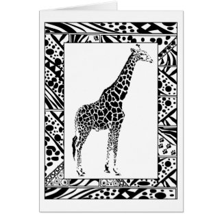 Giraffe study Birthday Card