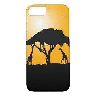 Giraffe Sunset Phone case