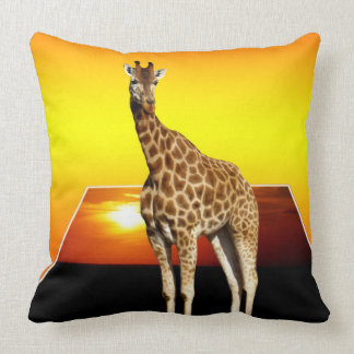 Giraffe Sunshine Popout Art Lge Throw Cushion. Cushion