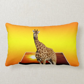 Giraffe Sunshine Popout Art, Lumbar Cushion. Lumbar Cushion