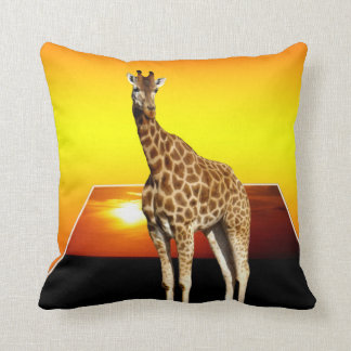 Giraffe Sunshine Popout Art Throw Cushion. Cushion