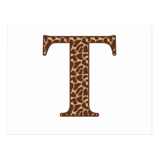 Giraffe T Postcard