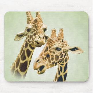 Giraffe Talk Mouse Pad