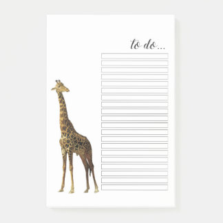 Giraffe To Do List Post-it® Notes