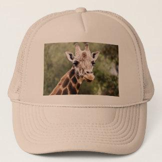 Giraffe trucker's cap