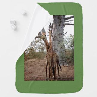 Giraffe Twins Africa Personalize Destiny Destiny'S Baby Blanket