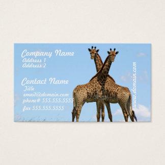 Giraffe Twins Business Cards