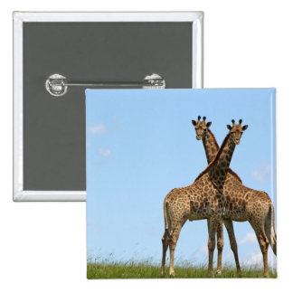 Giraffe Twins  Button