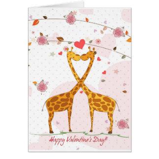 Giraffe Valentine Greeting Card