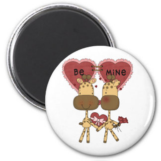 Giraffe Valentine Love  T-shirts and Gifts 6 Cm Round Magnet