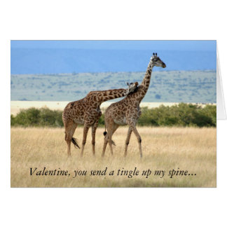 Giraffe Valentine's Day Card