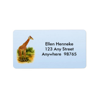 Giraffe Vintage 1912 Address Label