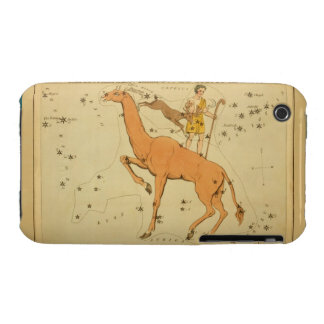 Giraffe - Vintage Astronomical Star Chart Image iPhone 3 Cases