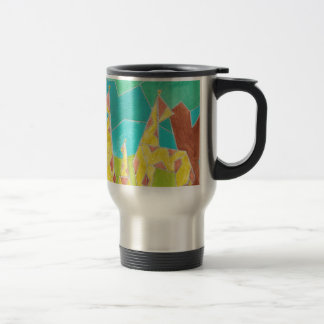 Giraffe Watercolor Art Travel Mug