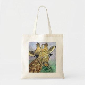 Giraffe watercolour art bag birthday Christmas