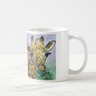 Giraffe watercolour art mug Birthday Christmas