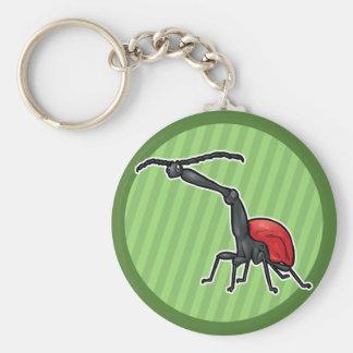 Giraffe Weevil Basic Round Button Key Ring