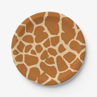 Giraffe wild jungle safari animal paper plate
