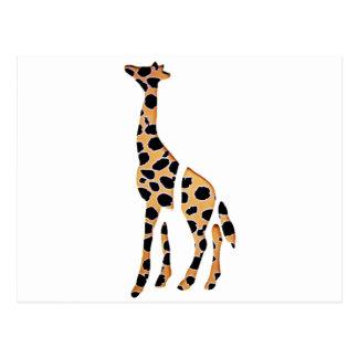 Giraffe Wild Mash Up Postcard