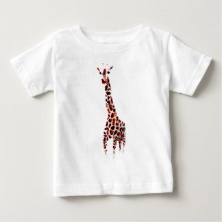 Giraffe Wildlife Art Baby T-Shirt