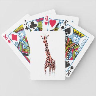 Giraffe Wildlife Art Bicycle Playing Cards