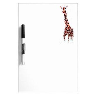 Giraffe Wildlife Art Dry Erase Board