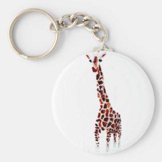 Giraffe Wildlife Art Key Ring