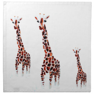 Giraffe Wildlife Art Napkin