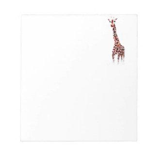 Giraffe Wildlife Art Note Pad