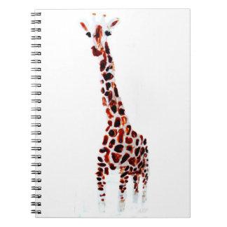 Giraffe Wildlife Art Spiral Notebook