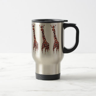 Giraffe Wildlife Art Travel Mug