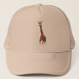 Giraffe Wildlife Art Trucker Hat