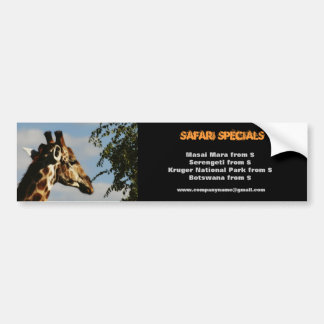 Giraffe wildlife safari bumper stickers