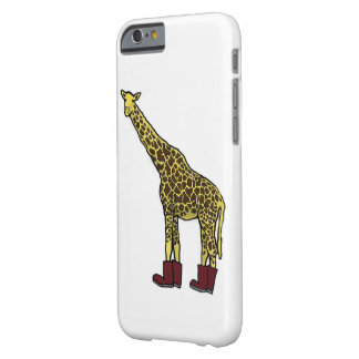 Giraffe with boots barely there iPhone 6 case
