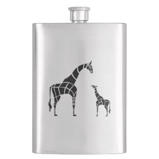 Giraffe with Calf Hip Flask