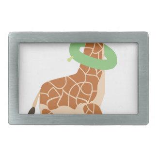 Giraffe With Inner Tube Belt Buckles