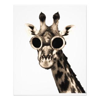 Giraffe With Steampunk Sunglasses Goggles 11.5 Cm X 14 Cm Flyer