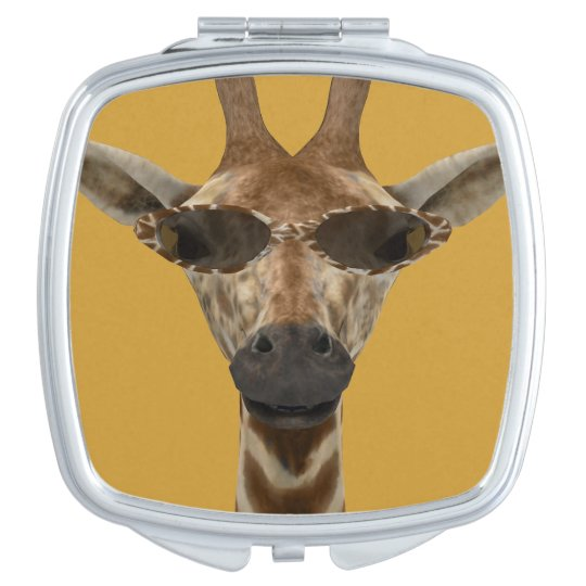 Giraffe with Sunglasses Compact Mirror