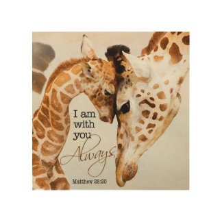 Giraffe wooden print wood canvases