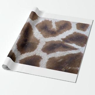 Giraffe wrapping paper skin