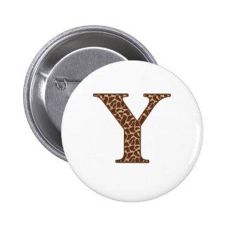 Giraffe Y 6 Cm Round Badge