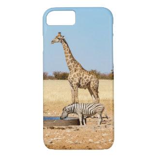 Giraffe & zebra iPhone 7 case