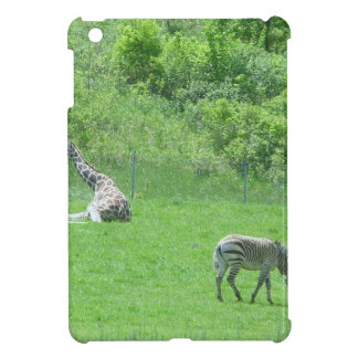 Giraffe & Zebras Grazing During the Summer iPad Mini Cover
