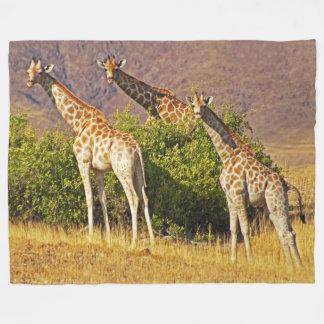 Giraffes 1B Fleece Blanket