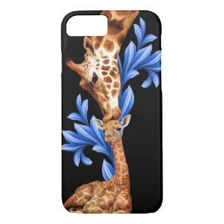 Giraffes- A Mother's love iPhone 8/7 Case