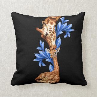 Giraffes- A Mother's love Throw Cushions
