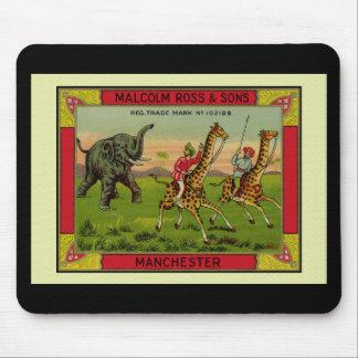 Giraffes and Elephant Mouse Mat